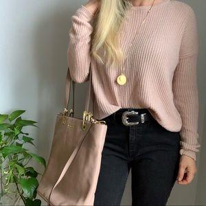Brandy Melville dusty pink oversized sweater OS